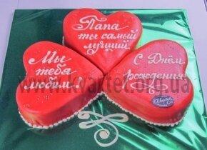 """Торт """"Три сердца"""""""